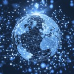 International Globe Dark Blue