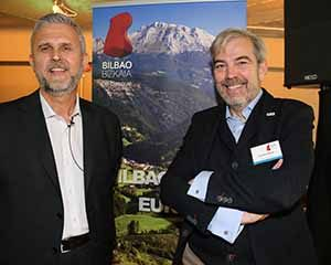 Joseba Ugarte, Territorial and Economic Development Department, Bizkaia Provincial Government, and Gonzalo Ceballos, Spanish Tourism Office Dublin at the Bilbao and Bizkaia Tourism and Destination Showcase event in Andrew Rudd's new venue, Medley Restaurant, Fleet Street, Dublin, May 25 2016