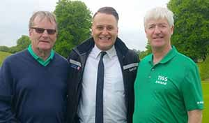 Overall winner Martin Dempsey with Onur Gul and Martin Skelly at the Travel Industry Golf Society outing in Mount Juliet sponsored by Turkish Airlines, May 26 2016