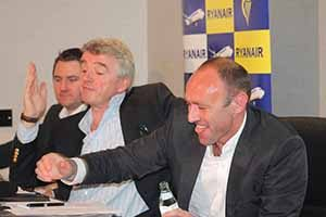 Robin Kiely, Michael O'Leary and Kenny Jacobs
