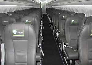 Interior view during the test flight of the Cityjet Superjet SSJ100, June 15 2016