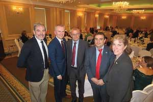 Gonzalo Ceballos of the Spanish Tourist Board, Kevin Cullinane of Cork Airport, Keith Chuter of British Airways, Carlos Pinacho of Iberian Express and Anita Gackowska of Cork Airport at an event in the Imperial Hotel in Cork to promote Iberia Express's new 2w service from Cork to Madrid,
