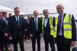 John Delaney, Martin O'Neill, Pat Byrne and Cathal McConnell