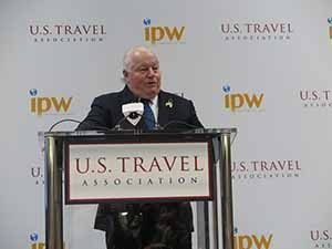 Roger Dow CEO of the US Travel Association speaking at IPW 2016 in New Orleans, June 21 2016