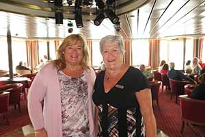 Amanda Middler and Linda McCorry of Silversea cruises at the Silversea Cruise event on board Silver Cloud in Dublin, August 26 2015