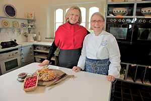 Lyndey Milan, one of Australia's most recognised food, wine and lifestyle personalities cooks up a storm with Darina Allen, Ballymaloe.  Lyndey's visit to Ireland was assisted by tourism bodies Fáilte Ireland and Tourism Ireland and her itinerary included a visit to Cork to film her cookery series A Taste of Ireland. Cork is featured in the second episode of the programme which will air on Tuesday 18th June, TV3 at 7.30pm.