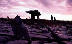 Burren poulnabrone dolmen sunset