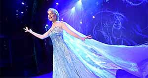 "The beloved animated hit ""Frozen"" is getting the Disney Cruise Line theatrical treatment as a full-length stage show exclusively aboard the Disney Wonder. In ""Frozen, A Musical Spectacular,"" the story will be presented like never before with an innovative combination of traditional theatrical techniques, modern technology and classic Disney whimsy. (Concept photo, David Roark)"