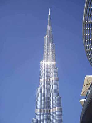 Burf Khalifa - the tallest building in the world, from (almost) ground level