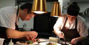 Enda McEvoy and Christine Walsh in the kitchen at Loam. Photo: Joe O'Shaughnessy.