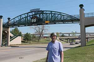 Travel Extra editor Eoghan Corry on Route 66 in Oklahoma, April 19 2014