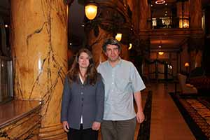 Jennifer Crisp and Eoghan Corry in the historic Franlin Hotel in Richmond Virginia
