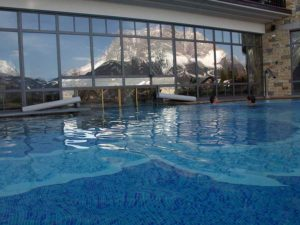 Swimming pool in the Hotel Post