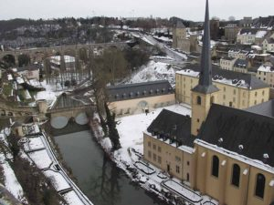 Luxembourg in the snow March 2005
