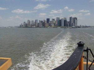 Manhattan photographed from the Staten Island ferry