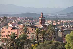 View of the town from Club Med Marrakech, Dec 3 2014