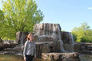 Mary Prendergast at Myriad Gardens, Oklahoma City, April 19 2014