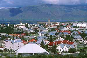 Aerial view of Reykjavík Credit line: Icelandic Tourist Board / Photo: Randall Hyman