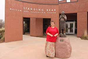TL Walker at the Standing Bear memorial park, Ponca City, April 17 2014