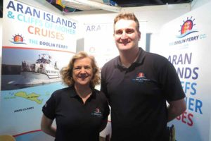 Brigitte Brew and Liam O'Brien of Doolin Ferries