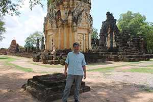 Irish Travel writer Eoghan Corry in Sukhothei
