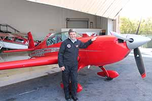 Travel Extra editor Eoghan Corry experiencing the skycombatace.com flight in Henderson, Nevada, where excursionists are allowed to take the controls of an aerobatics jet