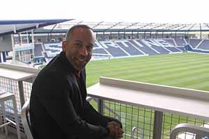 John Moncke in the Sporting Kansas stadium April 14 2014