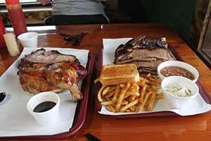 Portions at Joe & Colby Wells' Smokin' Joe's Rib Ranch in Davis, Oklahoma, April 19 2014