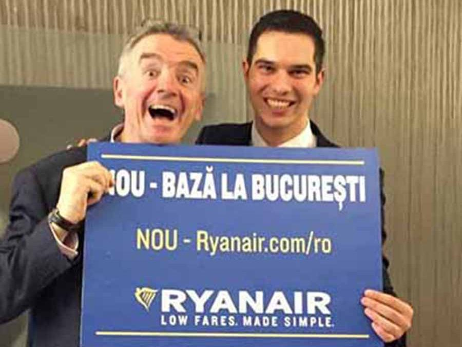 Ryanair 127pc passenger increase in Romania