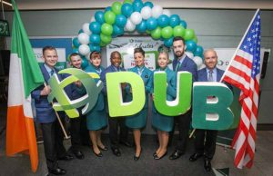 01/09/2016: Aer Lingus crew are pictured at the Aer Lingus inaug