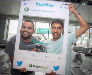 Arun Patel and Pragnesh Patel at the Aer Lingus inaugural