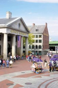 Faneuil Hall Marketplace - the lively core of Boston's historic waterfront, and the nation's premier urban marketplace is housed in 3 beautifully restored 19th century buildings
