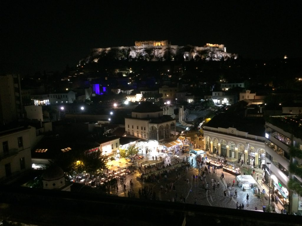 The view from A for Athens