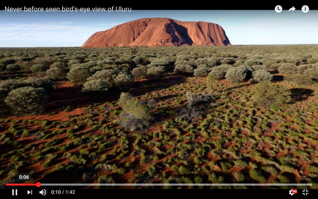 First drone footage of Uluru released on YouTube