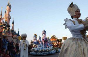 Christmas Parade At Disneyland Park