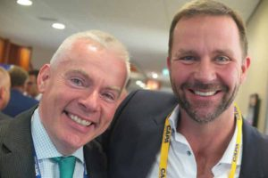 Niall McCarthy MD of Cork Airport and Skuli Mogensen Founder & CEO of WOW Air, at CAPA aviation summit in Amsterdam, October 27 2016