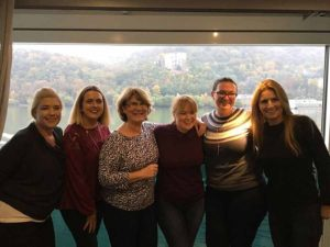Picture shows top performing Travel Counsellors celebrating their gold weekend on a river cruise with Scenic, Susan Hegarty from Carlow; Rosemary Chawke, Clonmel; Mary Foyle, Cork; Bernie Whelan, Head Office; Sarah McCarthy, Cork; and Lorraine Lawless, Dunshaughlin, some of the 100 Travel Counsellors from Ireland, England, South Africa and Australia, along with some of their travel partners Royal Caribbean International, P&O and Cunard, Celebrity Cruises, DoSomethingDifferent, and British Airways. There are ten homeworkers in Ireland with Gold status, awarded to those who earn in excess of €59,000. Five Gold Irish TCs attended this trip, while the other five enjoyed a trip to Hong Kong in April.