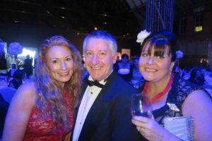 Diana Bowman, Gearoid Mannion and Melanie Cahill at Travel Counsellors conference in Manchester, Novemebr 19 2016