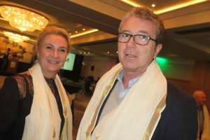 Sissel Thorstensen of Kerala Tourism and James Malone of Rathgar Travel at the Kerala Tourism event in Dublin, Nov 10 2016