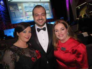 Erica Oglesby, Antonio Paradiso and Rebecca Kelly of MSC, November 14 2016