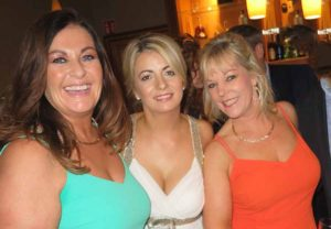Jeanette Taylor, Mary Denton and Deirdre Sweeny of Sunway who went to the Travel Centres fancy dress ball as an Irish flag, November 12 2016