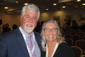 Dominic and Bernie Burke at the Travel Centres conference in Mullingar, Nov 11-12 2016