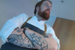 JP McMahon tattoo pictured at the Tourroir Good Food Ireland awards in Croke Park, November 1 2016
