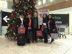 Departing on the Turkish fam trip to the Seychelles: Roisin Carbery from Tropical Sky, Jennifer O'Brien of Travel Counsellors, Onur Gul of Turkish Airlines, Siobhan Emma Doyle of Trailfinders, Sonya Walsh of World Travel Center and Usha Panicker of Club Travel