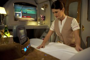 Emirates' First Class cabin