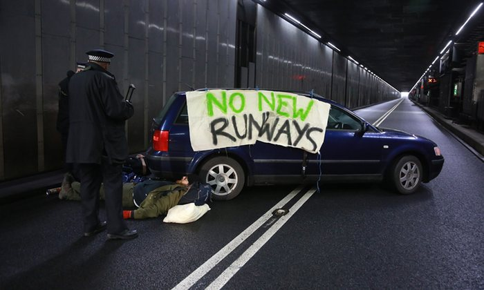 Heathrow returns to normal after runway protesters cause traffic backlog