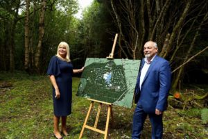 Center Parcs CEO Martin Dalby pictured in October 2016 walking the site with Jobs Minister Mary Mitchell O'Connor. Photo: Jason Clarke