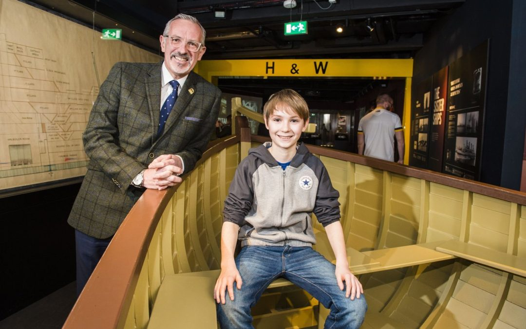 Titanic Belfast welcomes great, great, great, great nephew of shipyard owner