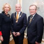 Anne O'Leary, Chief Executive of Vodafone Ireland, with Brendan Foster, 2017 President of Dublin Chamber of Commerce, and Niall Gibbons, Chief Executive of Tourism Ireland and Deputy Vice President of Dublin Chamber of Commerce (picture by Conor McCabe Photography)