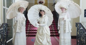 Mona Kennedy , Teresa Delius and Irene O'Driscoll from Cobh animation team as The Metropole will mark its 120th year in business In June . Photo: Gerard McCarthy